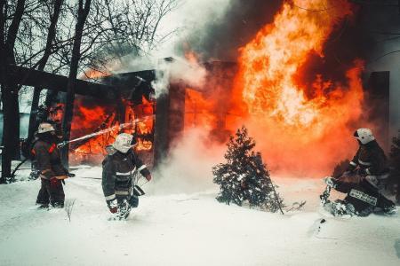 救援人员,消防员,消防员,MES,火灾,爆炸