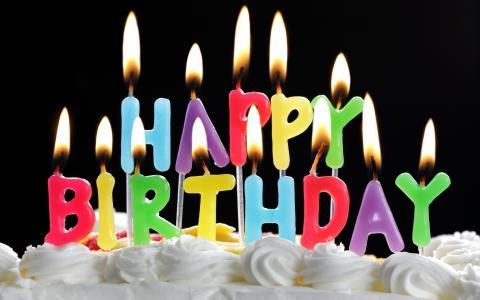 生日快乐,祝贺,假日,生日,蜡烛