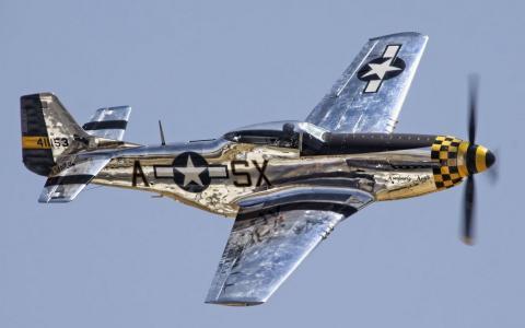 天空,飞机,P-51野马