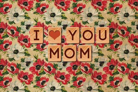 我爱你,题字,壁纸,妈妈,纹理