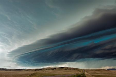 自然,道路,风暴,美国