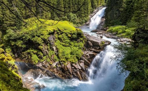 自然,山河,小瀑布,石头