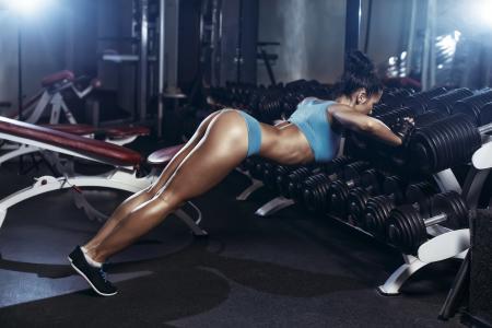 健身,运动,美丽,黑暗的背景
