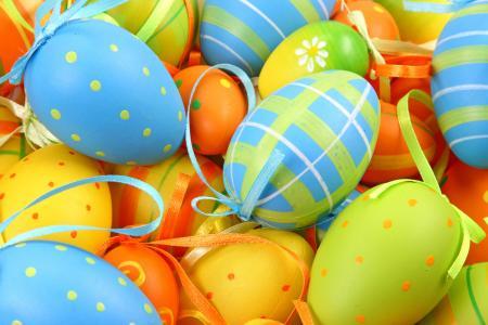 复活节,弓,鸡蛋,模式
