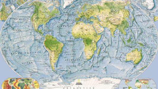 地球仪,世界地图,大陆,海洋