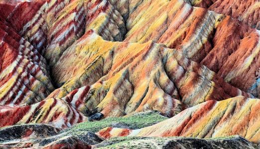 彩色岩石,张掖邓克西亚,中国