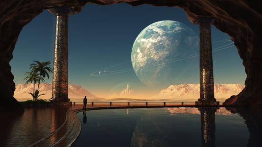 月亮,reflection.water,天空