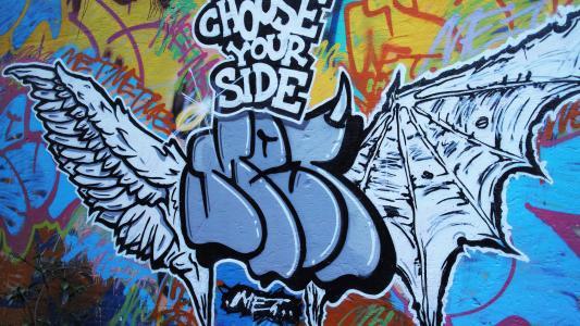 嘻哈酷炫的街头涂鸦
