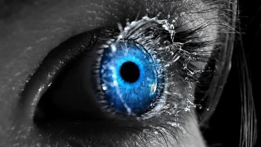 眼睛,女孩,抽象