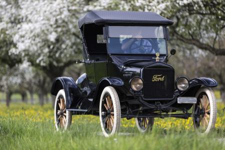 复古,1923年,福特,模型,T,黑色