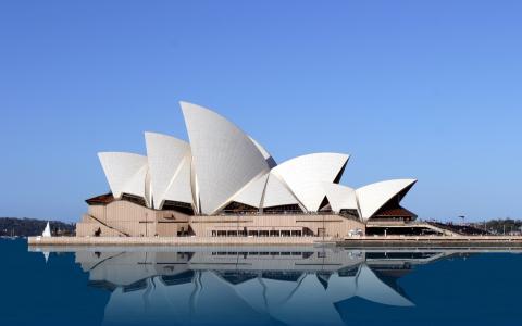 城市,美丽,建筑,风景,亲爱的,小河,悉尼,澳大利亚