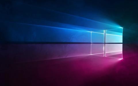 微软Windows 10,霓虹灯标志,屏幕保护程序,Windows 10