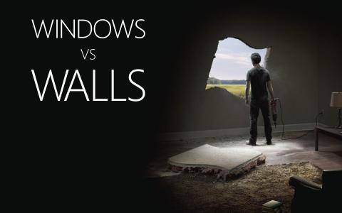 窗户靠墙,窗户