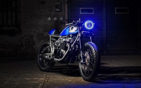 摩托车,自行车,车库