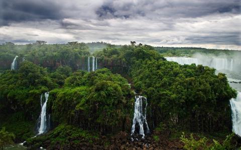 丛林,森林,iguasu,瀑布,自然,河流