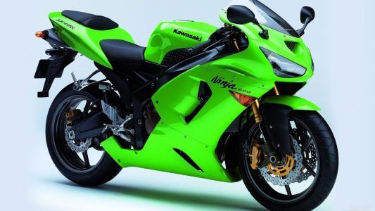 川崎,绿色,摩托车