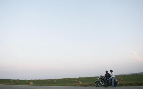路,人,摩托车