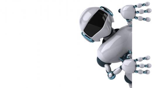 机器人,白色背景,3d