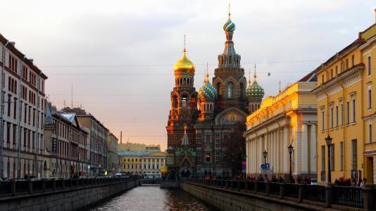 小船,俄罗斯,彼得,码头,街道,彼得斯堡