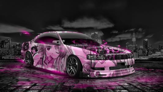 托尼·柯汉,托尼·柯汉,托尼·柯恩,托尼·柯恩,丰田,追踪,JZX90,JDM,动漫,女孩,气象学,城市,日本,粉红色,霓虹灯,效果,汽车,优化