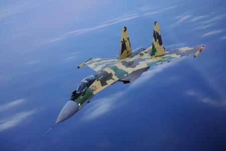 苏-35,战斗机,蓝天,高度
