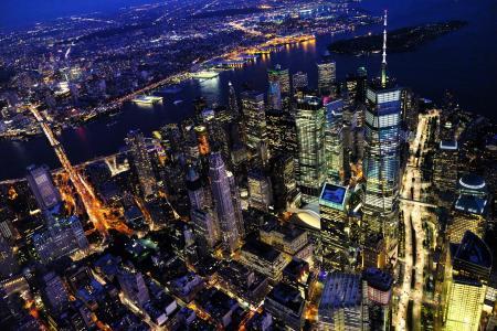 不夜之城纽约的天际线