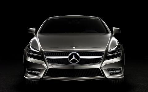 奔驰,超级跑车,黑暗的背景下,创意