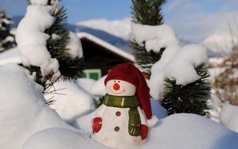 假期,玩具,雪人