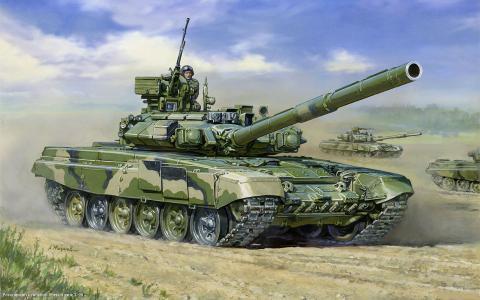 T-90,坦克,俄罗斯,主战坦克,油轮