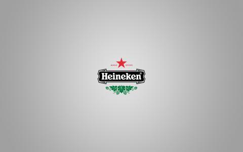 品牌,喜力,风格,极简主义,啤酒,啤酒,标志,风格,极简主义