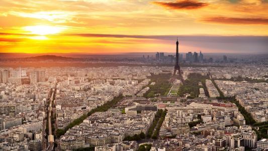 城市,巴黎,天空,埃菲尔铁塔