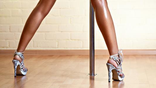 腿,身体,女孩,脱衣舞,极点