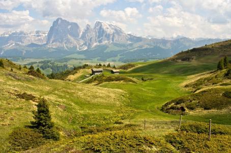 夏天,山,多洛米蒂山