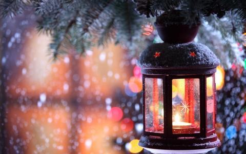 新的一年,灯笼,假期,蜡烛
