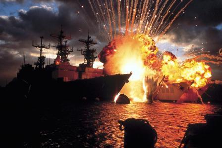 电影,珍珠港,船只,爆炸