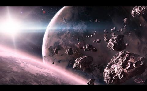 艺术,明星,空间,陨石,qauz,行星