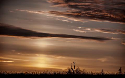 天堂别致,天空,美女,波拉卡,地平线,日落