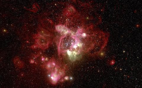 星云,哈勃望远镜,红色