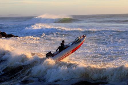 极端,娱乐,海洋,船,波浪
