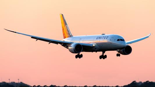 波音787,b787,梦想)班轮,飞机,机场,晚上