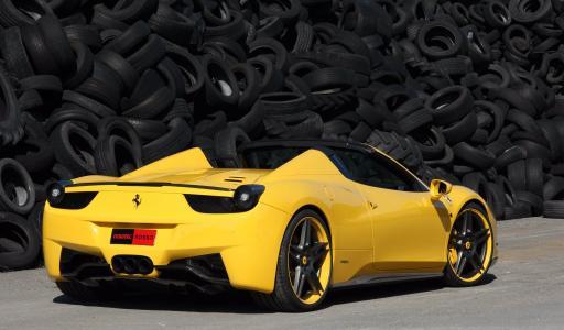 调谐,法拉利458意大利蜘蛛,法拉利458意大利,独轮车
