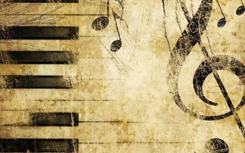 笔记,音乐,高音谱号,钥匙