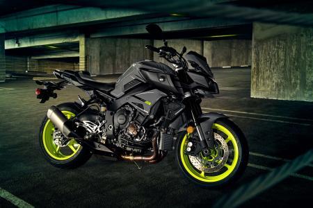 摩托车,黑色,雅马哈fz 10,2017年。