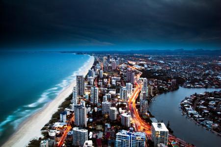 黄金海岸,海,海洋,城市,酒店,澳大利亚