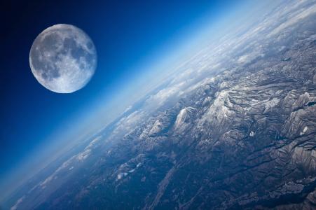 月亮,视图,星球,地球