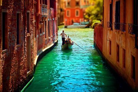 家,意大利,意大利,运河,威尼斯,威尼斯,贡多拉,水
