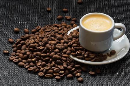 咖啡,粮食,杯子,飞碟,美容,泡沫