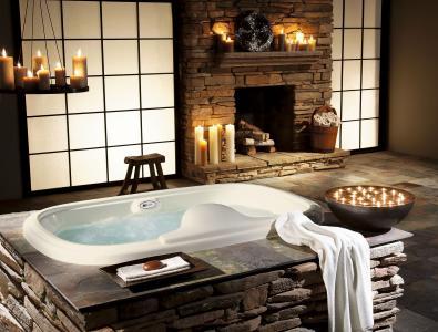 设计,室内,别墅,浴室,风格,房子