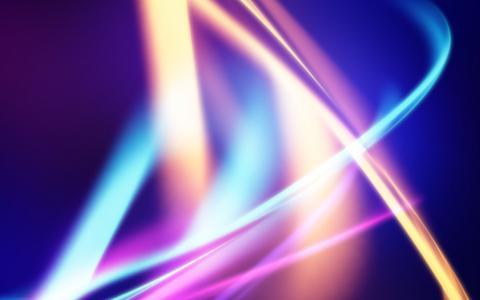 发光的条纹,颜色,蓝色背景