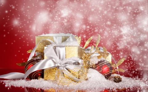 假期,圣诞节,新年,礼物,球